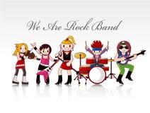 Cartão do grupo de rock Imagem de Stock