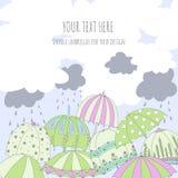 Cartão do guarda-chuva Imagens de Stock Royalty Free