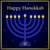 Cartão do Hanukkah Fotos de Stock Royalty Free