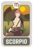 Cartão do homem do zodíaco: Escorpião Foto de Stock