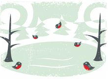Cartão do inverno Foto de Stock Royalty Free