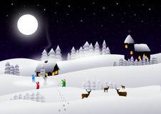 Cartão do inverno Fotografia de Stock Royalty Free