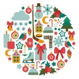 Cartão do inverno Foto de Stock