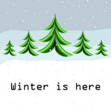 Cartão do inverno com a árvore de Natal abstrata Imagens de Stock Royalty Free
