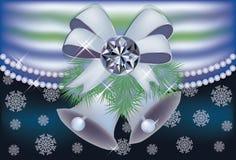 Cartão do inverno do diamante Fotografia de Stock Royalty Free