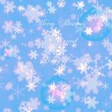 Cartão do inverno do Feliz Natal e dos flocos de neve do ano novo feliz Foto de Stock Royalty Free