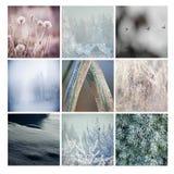Cartão do inverno, mosaico Foto de Stock Royalty Free
