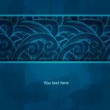 Cartão do inverno Projeto do molde do vetor invitation Fotografia de Stock Royalty Free