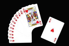 Cartão do jogo. Fotos de Stock