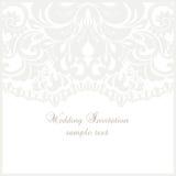 Cartão do laço do casamento com quadro do laço Imagens de Stock Royalty Free