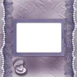 Cartão do lilac de Grunge para o convite ou as felicitações Foto de Stock