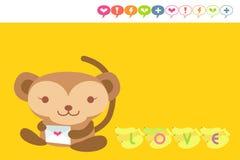 Cartão do macaco ilustração royalty free
