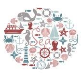 Cartão do mar Imagem de Stock