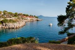 Cartão do mar em Veli Losinj Fotografia de Stock Royalty Free