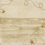 Cartão do mar para o feriado Foto de Stock Royalty Free