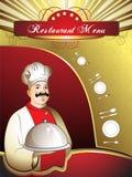 Cartão do menu Foto de Stock