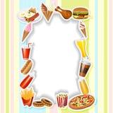 Cartão do menu com fast food Foto de Stock Royalty Free