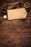 Cartão do menu do Natal Imagem de Stock