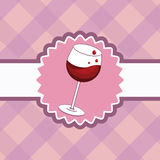 Cartão do menu do vinho Ilustração do Vetor