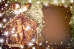 Cartão do menu do Natal Imagem de Stock Royalty Free