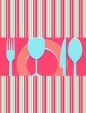 Cartão do menu ou do restaurante Fotografia de Stock Royalty Free