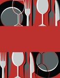 Cartão do menu ou do restaurante Foto de Stock