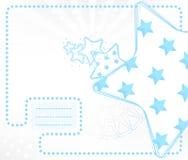 Cartão do miúdo do vetor com estrelas Imagem de Stock Royalty Free
