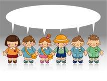 Cartão do miúdo dos desenhos animados Imagens de Stock Royalty Free