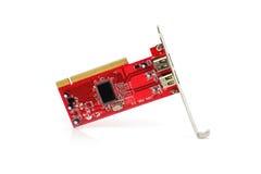 Cartão do modem para o computador de secretária fotos de stock