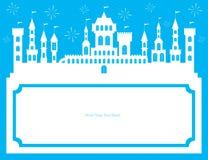 Cartão do molde do reino Fotos de Stock Royalty Free