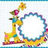 Cartão do molde, vetor Imagens de Stock Royalty Free
