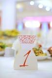 Cartão do número da tabela Imagens de Stock