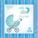 Cartão do nascimento do bebé ilustração do vetor