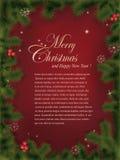 Cartão do Natal Imagem de Stock