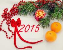 Cartão 2014 do Natal Imagens de Stock Royalty Free