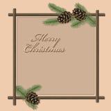 Cartão do Natal & dos Novo-Anos do vetor Imagem de Stock Royalty Free