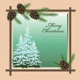 Cartão do Natal & dos Novo-Anos do vetor Fotografia de Stock Royalty Free