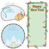 Cartão do Natal & dos Novo-Anos do vetor Imagem de Stock