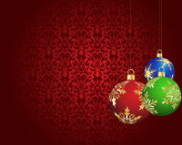 Cartão do Natal (ano novo) Fotos de Stock Royalty Free