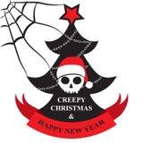 Cartão do Natal assustador e do ano novo feliz Imagens de Stock Royalty Free