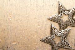 Cartão do Natal com as decorações do ouro do Natal Fotos de Stock