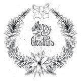 Cartão do Natal com citrino, especiaria preto ilustração do vetor