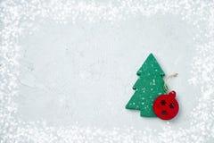 Cartão do Natal com decoração do Natal Copie o espaço Fotografia de Stock Royalty Free