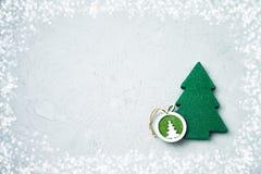 Cartão do Natal com decoração do Natal Copie o espaço Fotografia de Stock