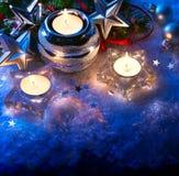 Cartão do Natal com decoração do Natal Imagens de Stock