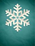 Cartão do Natal com floco de neve. Imagens de Stock Royalty Free