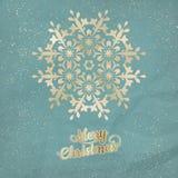 Cartão do Natal com floco de neve Eps 10 Foto de Stock Royalty Free