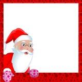 Cartão do Natal com Papai Noel ilustração royalty free