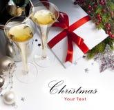 Cartão do Natal da arte Fotografia de Stock