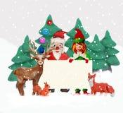 Cartão do Natal da massa de modelar 3D com duende Imagens de Stock